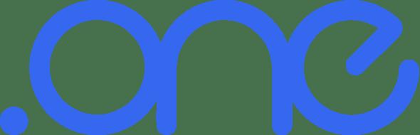 dot one logo blue on white